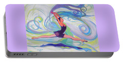 Leap Of Joy Portable Battery Charger by Jeanette Jarmon