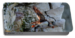 Portable Battery Charger featuring the photograph Leap Puffin  by Cliff Norton