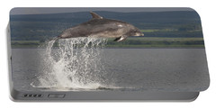 Leaping Bottlenose Dolphin  - Scotland #39 Portable Battery Charger