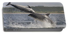 Leaping Bottlenose Dolphins - Scotland  #38 Portable Battery Charger