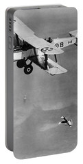 Leaping From Army Airplane Portable Battery Charger