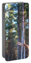 Leaping Red Squirrel Tall Portable Battery Charger