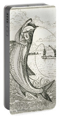 Leaping Tarpon Portable Battery Charger by Charles Harden