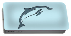 leather Dolphin Portable Battery Charger