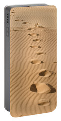 Leave Only Footprints Portable Battery Charger by Heather Applegate