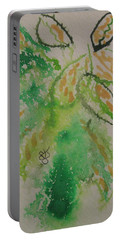 Portable Battery Charger featuring the drawing Leaves by AJ Brown