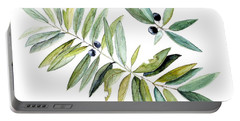 Leaves And Berries Portable Battery Charger