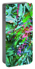 Leaves Buds Green Pink Portable Battery Charger