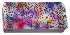 Leaves Colorful Abstract Design Portable Battery Charger