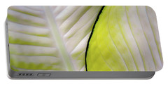 Leaves In White Portable Battery Charger