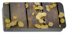 Leaves On Planks Portable Battery Charger