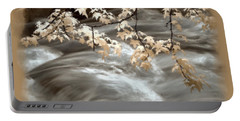 Leaves Over Gossamer Waters Portable Battery Charger