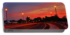 Portable Battery Charger featuring the photograph Leaving Red Bank by Raymond Salani III