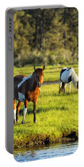 Leaving The Chincoteague Ponies Portable Battery Charger