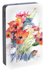 Portable Battery Charger featuring the painting Leaving The Shadow by Anna Ewa Miarczynska