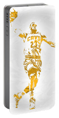 Lebron James Cleveland Cavaliers Pixel Art 12 Portable Battery Charger