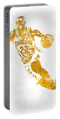 Lebron James Cleveland Cavaliers Pixel Art 15 Portable Battery Charger