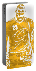 Lebron James Cleveland Cavaliers Pixel Art 21 Portable Battery Charger