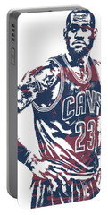 Lebron James Cleveland Cavaliers Pixel Art 25 Portable Battery Charger