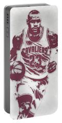 Lebron James Cleveland Cavaliers Pixel Art 4 Portable Battery Charger