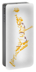 Lebron James Cleveland Cavaliers Pixel Art Portable Battery Charger