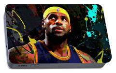 Lebron Portable Battery Charger by Richard Day