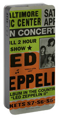 Led Zeppelin Live In Concert At The Baltimore Civic Center Poster Portable Battery Charger
