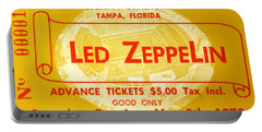Led Zeppelin Ticket Portable Battery Charger by David Lee Thompson