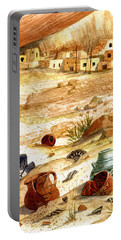 Portable Battery Charger featuring the painting Left Behind - Indian Pottery by Marilyn Smith