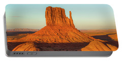 Left Mitten Sunset - Monument Valley Portable Battery Charger