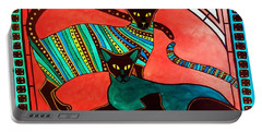 Legend Of The Siamese - Cat Art By Dora Hathazi Mendes Portable Battery Charger