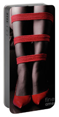 Legs In Red Ropes Portable Battery Charger