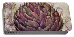 Legumes Francais Artichoke Portable Battery Charger by Mindy Sommers
