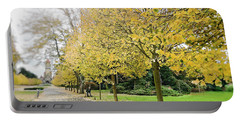 Portable Battery Charger featuring the photograph Leipzig Memorial Park In Autumn by Ivy Ho