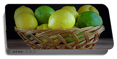 Lemon And Lime Basket Portable Battery Charger