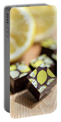 Lemon Chocolate Portable Battery Charger by Sabine Edrissi