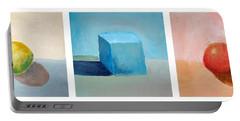 Lemon Cube Sphere Portable Battery Charger by Michelle Calkins