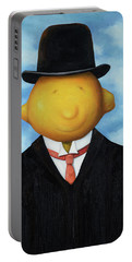 Lemon Head Pro Image Portable Battery Charger by Leah Saulnier The Painting Maniac