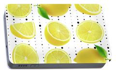 Lemon  Portable Battery Charger by Mark Ashkenazi