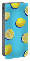 Lemon Pattern Portable Battery Charger by Rafael Farias