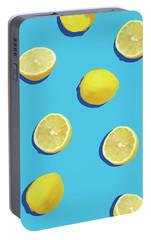 Lemon Pattern Portable Battery Charger by Rafael Farias