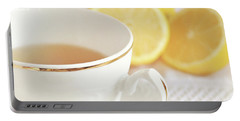 Portable Battery Charger featuring the photograph Lemon Tea by Lyn Randle