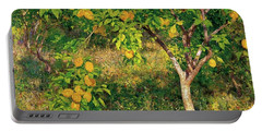 Portable Battery Charger featuring the painting Lemon Tree by Henry Scott Tuke