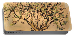 Portable Battery Charger featuring the painting Lemon Tree by Maria Langgle