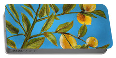Lemon Tree Portable Battery Charger by Marna Edwards Flavell