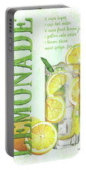 Portable Battery Charger featuring the painting Lemonade by Debbie DeWitt