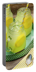 Lemonade In Blue Tray Portable Battery Charger