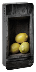 Lemons Still Life Portable Battery Charger by Edward Fielding