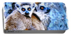 Lemurs Of Madagascar Portable Battery Charger by Maciek Froncisz