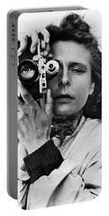 Leni Riefenstahl With A Leica Unknown Photographer Or Date Portable Battery Charger